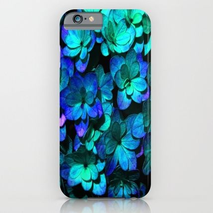 Society6 iPhone・スマホケース Society6 ケース Ocean Blue Flower Pattern