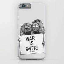 【海外限定】society6★War is over Pugs iPhoneケース