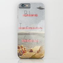 【海外限定】society6★Blue Turning Grey  iPhoneケース
