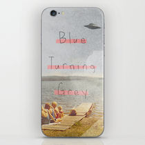【海外限定】society6★Blue Turning Grey iPhoneシール