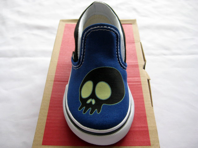 入手困難!Vans Vault x Murakami Toddlers Slip-On Skull
