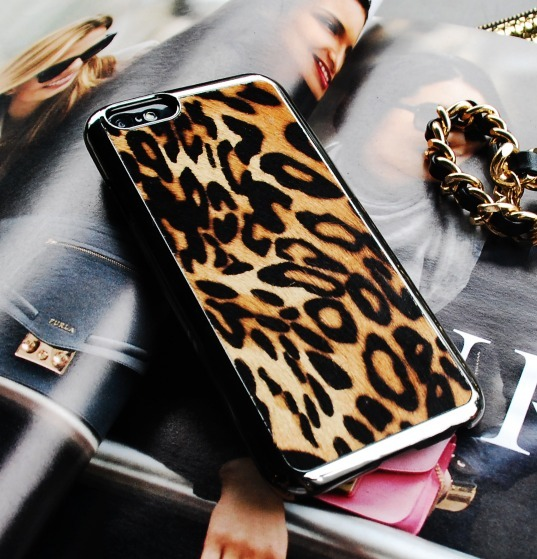 SMART PHONE CASE/上級ブランド/BACKCOVER LEOPARD  IPHONE6
