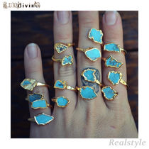 Lux Divine(ラックス・ディバイン) 指輪・リング Lux divine★ターコイズリング Turquoise Wrap Ring GOLD 天然石