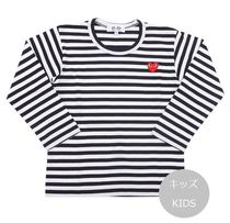 COMME des GARCONS(コムデギャルソン) キッズ用トップス PLAY COMME des GARCONS キッズ ボーダー長袖カットソー 黒
