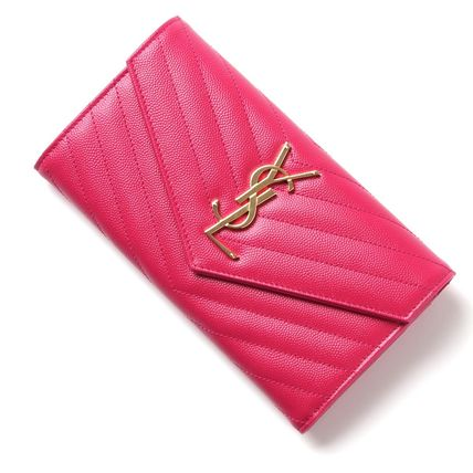Saint Laurent long wallet 372264 5623 BOW01 color:LIPSTICK