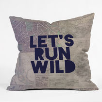 DENY Designs◆クッションカバー◆lets run wild x maps by leah