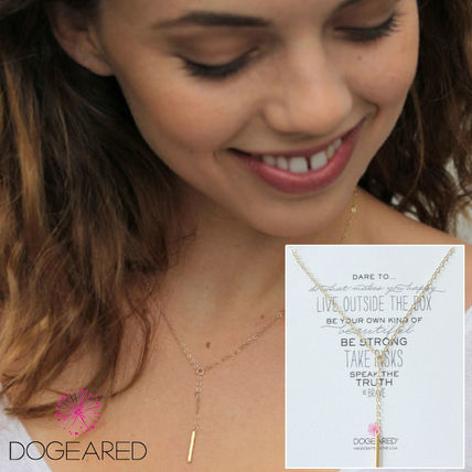 DOGEARED LITTLE Y ネックレス SQUARE BAR