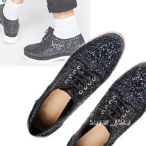ASOS MOODIE Glitter Lace Up Shoes