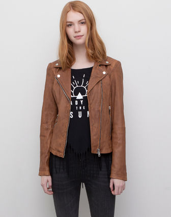 His sister ZARA pull and bear leather leather riders Biker