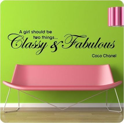"""Coco Chanel Classy and Fabulous"" ウォールステッカー"