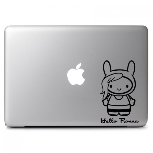 MacBook 対応 アートステッカーHello the Adventure Time Fionna