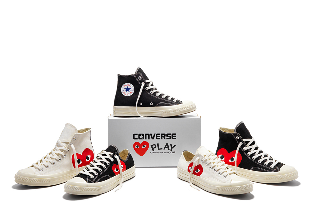 COMME des GARCONS Low-Top New-Play Converse-Chuck Taylor ' 70 High Black unisex 5