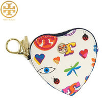TORY BURCH KERRINGTON HEART ZIP コインケース キーフォブ