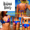 【kuraniKinis】(関税0&送料込)Triangle Blue & Purple Swirl