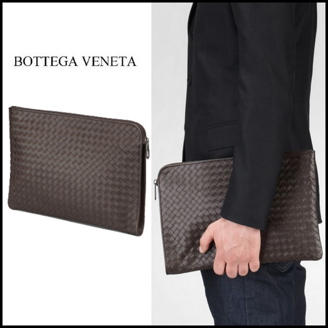 2015秋冬Bottega Veneta☆PORTE-DOCUMENTS INTRECCIATO VN EBANO