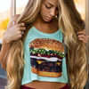 即日発送!SALE☆ freshtops - Triple Burger Crop Top