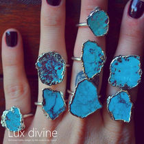 ★Turquoise and Silver ターコイズ リング★Luxdivine