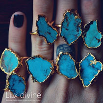★Turquoise and Gold ターコイズ リング★Luxdivine