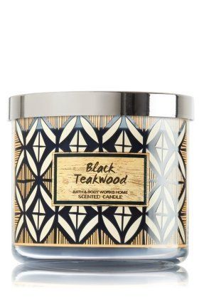Bath&Body Works 3芯キャンドル Black Teakwood