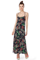 即発! サイズ2 The Webster at Target Palm Print Maxi Dress