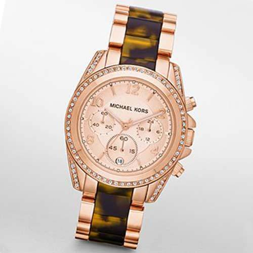 ★New★Blair Rose Gold Tone and Tortise Watch MK5859