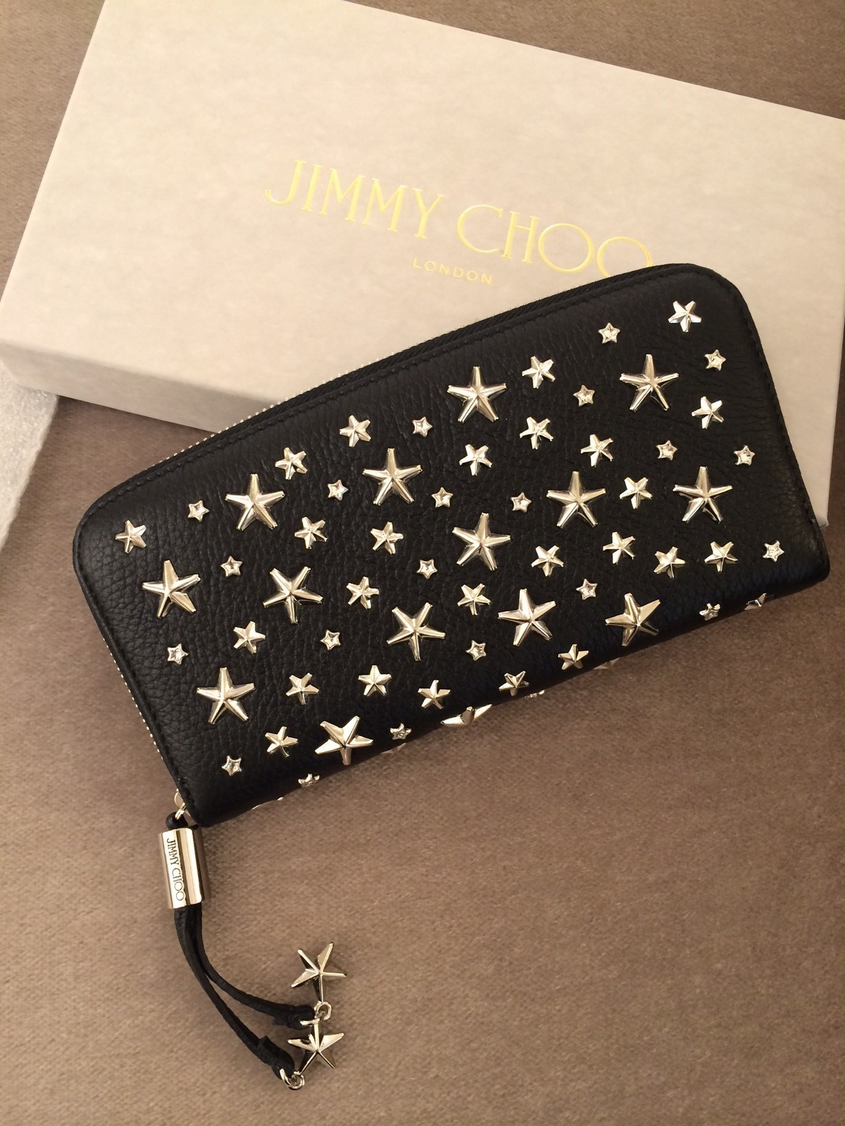 Jimmy Choo Filipa Cristal Star Stads Wallet 関税送料込