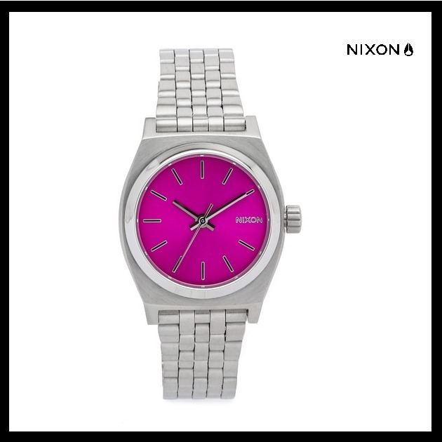 【国内発送・税込】Nixon Small Time Teller Watch(Silver/Pink)