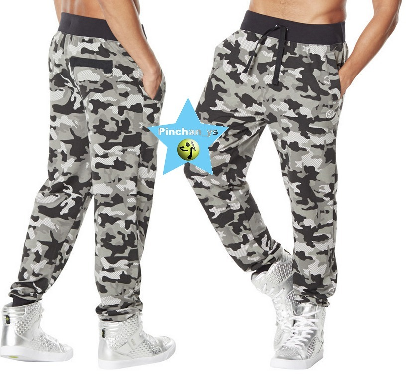 8月新作★【ZUMBA】Camo French Terry Jogger Pants(スモーク)