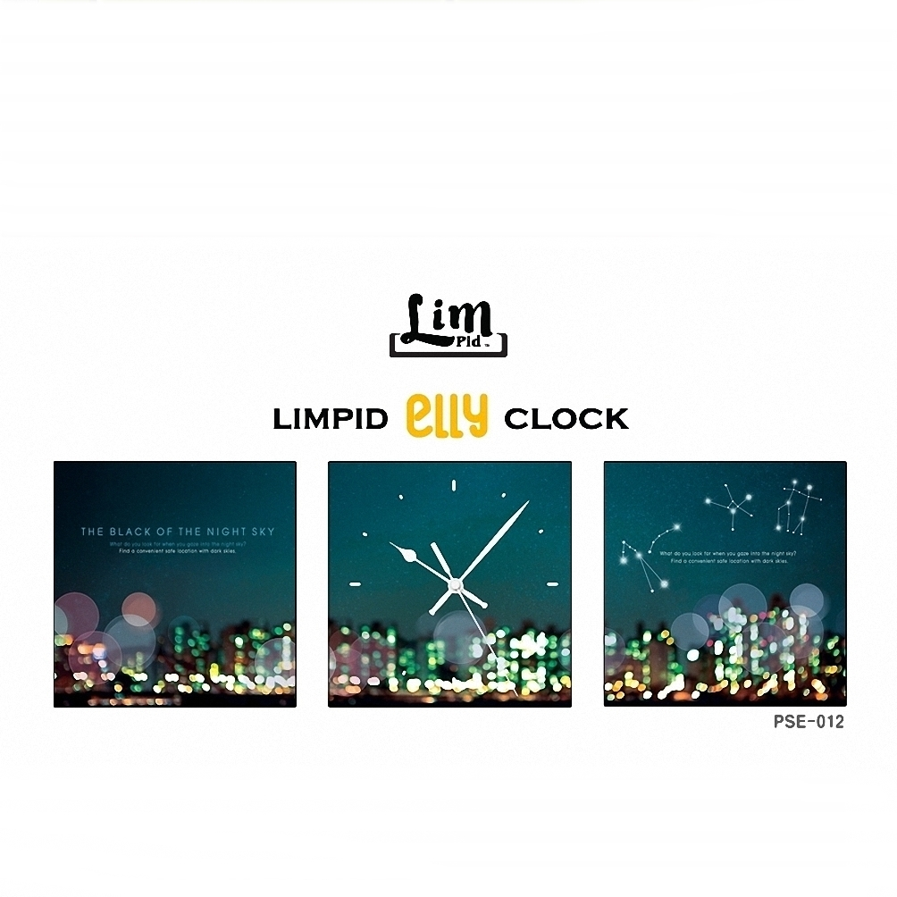 LIMPID ELLY FRAMELESS WALL CLOCK壁掛け時計 PSE-012