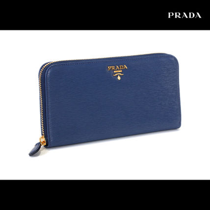 Latest model large finest MOVE leather PRADA long wallet