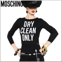 2015-16AW★Moschino ウール ニットセーター DRY CLEAN ONLY