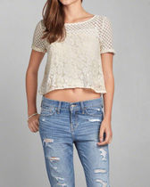 Abercrombie&Fitch☆Chelsea Lace Tee☆レースカットソー☆XS