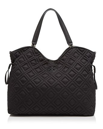Tory Burch マザーズバッグ 最新作 限定セールトリーバーチ 2色 marion QUILTED  BABY BAG(2)