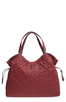 Tory Burch マザーズバッグ 最新作 限定セールトリーバーチ 2色 marion QUILTED  BABY BAG(5)