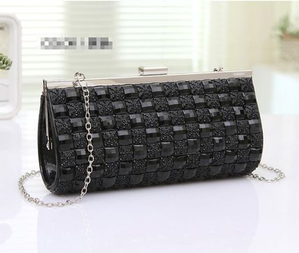Party glitter cubic clutch bag chain