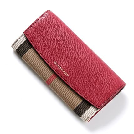 Burberry long wallet 3975327 DERBY LEATHER Red:RUSSET RED-