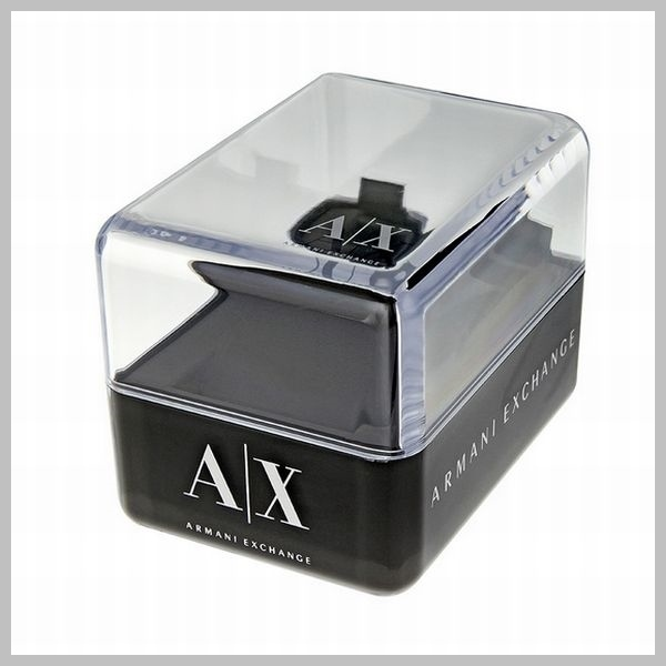 【国内発送・税込】A/X Black Dial Stainless Steel Men's Watch