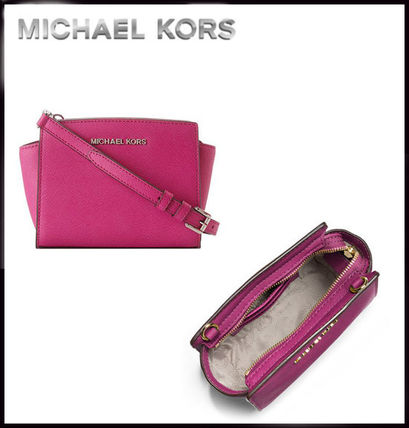 Michael Kors ショルダーバッグ・ポシェット MICHAEL KORS★SELMA SAFFIANO LEATHER MINI MESSENGER 国内発送(10)