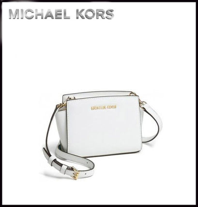 Michael Kors ショルダーバッグ・ポシェット MICHAEL KORS★SELMA SAFFIANO LEATHER MINI MESSENGER 国内発送(3)