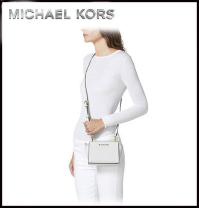 Michael Kors ショルダーバッグ・ポシェット MICHAEL KORS★SELMA SAFFIANO LEATHER MINI MESSENGER 国内発送(4)