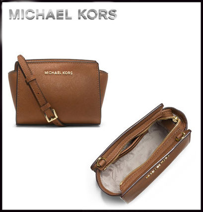 Michael Kors ショルダーバッグ・ポシェット MICHAEL KORS★SELMA SAFFIANO LEATHER MINI MESSENGER 国内発送(5)