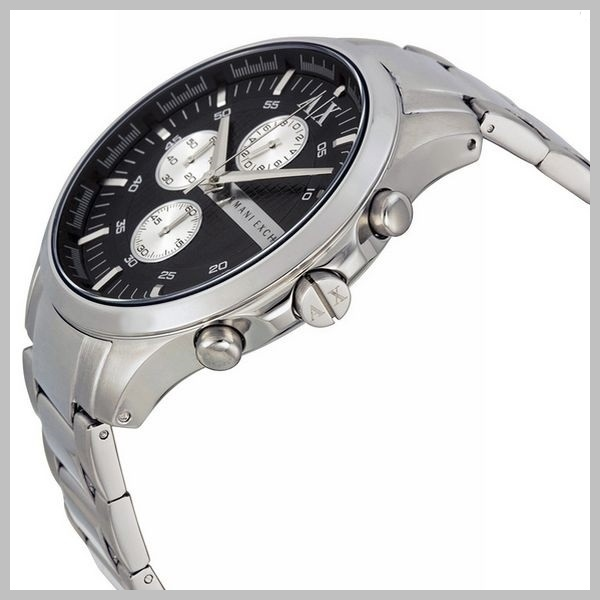 【国内発・税込】A/X Chronograph Black Dial Stainless  Watch