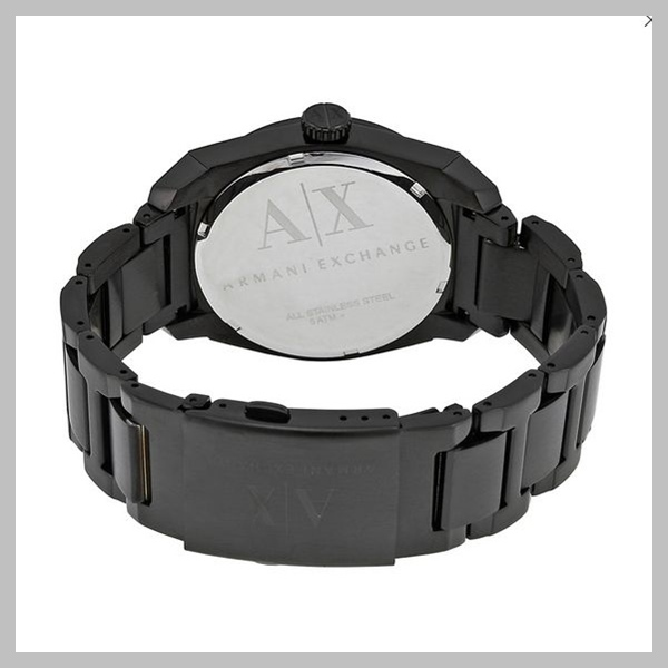【国内発送・税込】A/X Black Dial PVD Stainless Steel Watch
