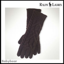 【Ralph Lauren】Aran-knit cashmere gloves < Black Label >