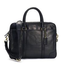 【 COACH 】 Leather Slim Briefcase レザー ブリーフケース 黒