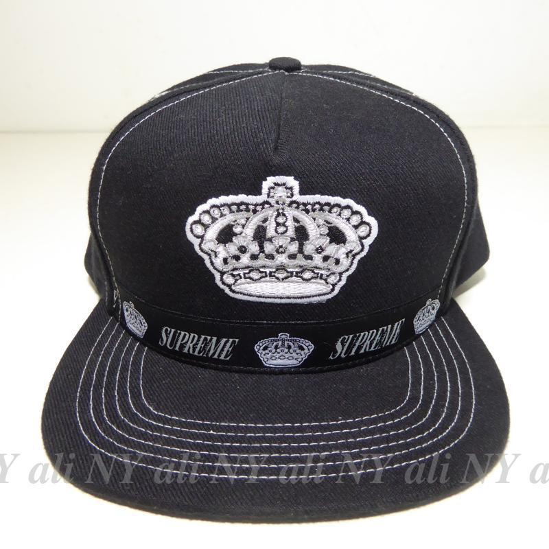在庫有り★送料込み★Supreme Crown 5-Panel Cap Black