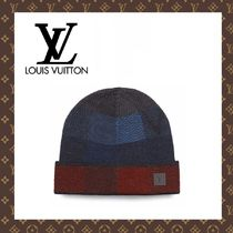 2015-16秋冬☆LOUIS VUITTON☆BONNET MOSAIC V ニット帽 ブルー