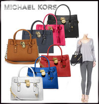 MICHAEL KORS★HAMILTON East/West MEDIUM SATCHEL 国内発送!