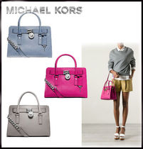 MICHAEL KORS★HAMILTON East/West MEDIUM SATCHEL 国内発送!!