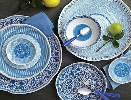 NY from Q Squared NYC melamine plates Heritage 3 types set